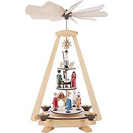 1 - Tier Pyramid  -  Nativity Scene  -  33cm / 13 inch