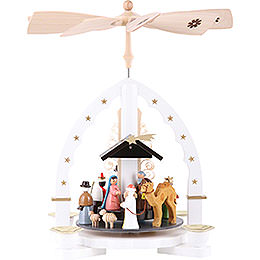 1 -  tier Pyramid Three Wisemen  -  white  -  11 inch  -  27cm