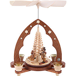 1 - tier pyramid  -  Children in winter  -  28cm / 11 inch