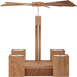 1 - tier pyramid  -  Modern natural oak blank   -  19cm / 7 inch