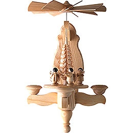 1 - tier wall pyramid Angel and wood chip tree  -  40x22cm / 15.7x8.7inch