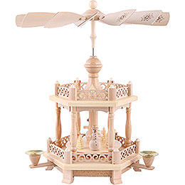 2 -  tier Pyramid Baroque fence  -  15 inch  -  38cm