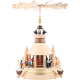 2 -  tier Pyramid Seiffen church  -  21 inch  -  53cm