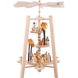3 - stöckige Pyramide Christi Geburt  -  natur  -  40cm