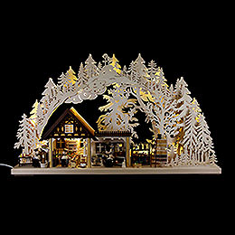 3D Candle Arch  -  Chefs  -  42,5x72x11cm /