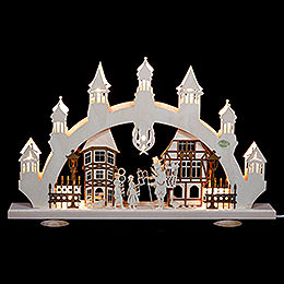 3D Candle Arch Old Town  -  47x31x6cm  -  18,5x12x2,4inch