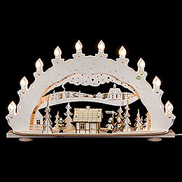 3D - Candle arch 'Ski lodge  -  smoker house'  -   66x40x11,5cm / 26x16x5inch