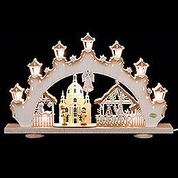 3D - Candle arch 'Striezel children'  -  52x32x6cm / 20x13x2.3inch