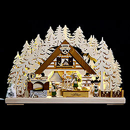 3D - Double - Arch  -  Christmas Bakery  -  44x29x7cm / 17x11x3 inch