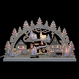 3D - Double - Arch  -  Erzgebirge Village  -  62x37x5,5cm / 24x14x2 inches
