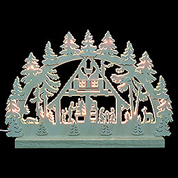 3D Double Arch  -  Forest Hut  -  42x30x4,5cm / 16x12x2 inch