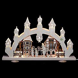 3D - Schwibbogen Altstadt  -  47x31x6cm