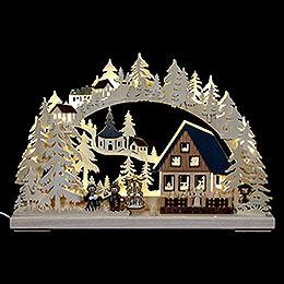 3D - Schwibbogen Pyramidenhaus  -  43x30x7cm