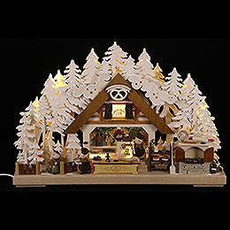 3D - Schwibbogen Walki - Weihnachtsbäckerei mit Raureif  -  43x30cm