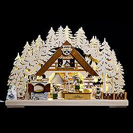 3D Schwibbogen  -  Weihnachtsbackstube  -  44x29x7cm