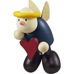 Angel Hans floating with heart  -  7cm / 2.8inch
