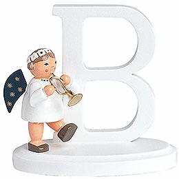 "Angel letter ""B""  -  7cm / 2.8inch"