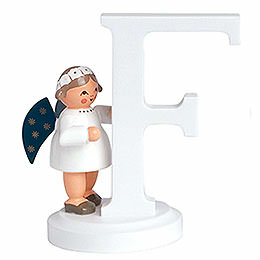 "Angel letter ""F""  -  7cm / 2.8inch"