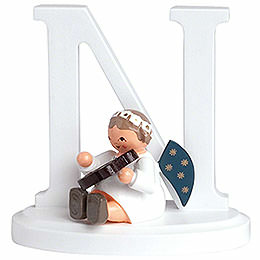 "Angel letter ""N""  -  7cm / 2.8inch"