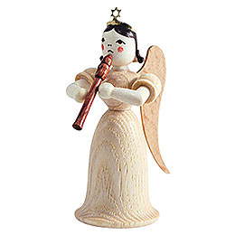 Angel long skirt with flute, natural  -  6,6cm / 2.5inch