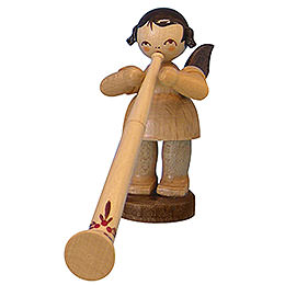 Angel with Alphorn  -  Natural Colors  -  Standing  -  6cm / 2,3 inch