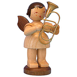 Angel with Baritone  -  Natural Colors  -  Standing  -  9,5cm / 3,7 inch