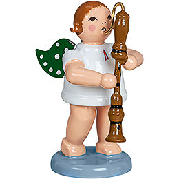 Angel with Bass Flute  -  6,5cm / 2.5 inch