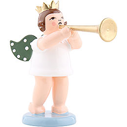 Angel with Crown and Fanfare  -  6,5cm / 2.5 inch