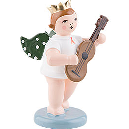 Angel with Crown and Guitar  -  6,5cm / 2.5 inch
