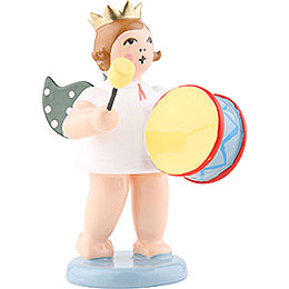 Angel with Crown and Large Drums  -  6,5cm / 2.5 inch
