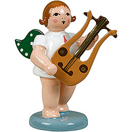 Angel with Lyre Guitar  -  6,5cm / 2.5 inch