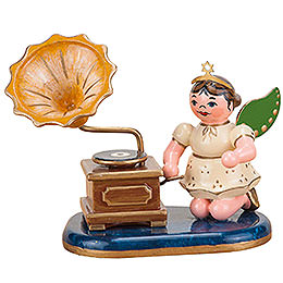 Angel with Phonograph  -  6,5cm / 2 inch
