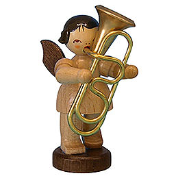 Angel with Tuba  -  Natural Colors  -  Standing  -  6cm / 2,3 inch