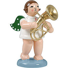 Angel with baritone horn  -  6,5cm / 2.5inch