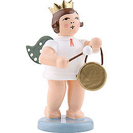 Angel with crown and gong  -  6,5cm / 2.5inch