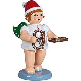Baker angel with hat and pretzl  -  6,5cm / 2.5inch