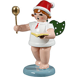 Baker angel with hat, spoon and cook book  -  6,5cm / 2.5inch