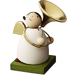 Big Band guardian angel with sousaphone  -  3,5cm / 1.3inch