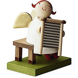 Big Band guardian angel with washboard  -  3,5cm / 1.3inch