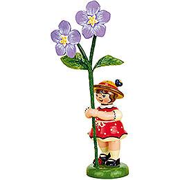 Blumenkind Mädchen mit Flachs  -  11cm