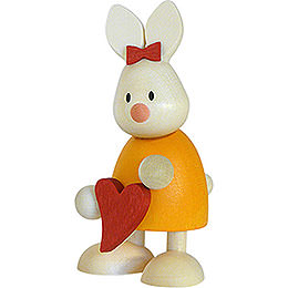 Bunny Emma standing with heart   -  9cm / 3.5inch