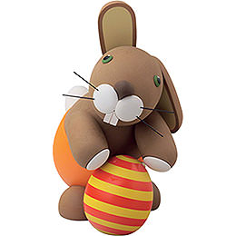 "Bunny ""Heiner"" with easter egg  -  16cm / 6.3inch"