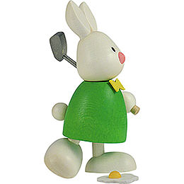 Bunny Max golfing, teeing off  -  9cm / 3.5inch