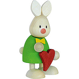 Bunny Max standing with heart  -  9cm / 3.5inch