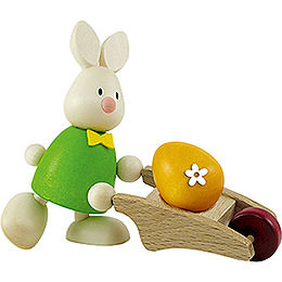Bunny Max with hand cart  -  9cm / 3.5inch
