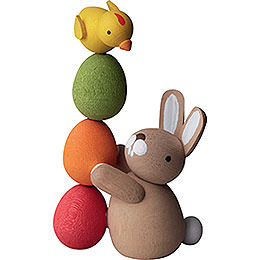 Bunny with pile of eggs  -  3,5cm / 2inch / 1.4inch