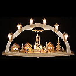 Candle Arch Christmas fair  -  41 x 17 inch  -  80 x 43cm