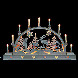 Candle Arch  -  Forest Scene with Base  -  78x45cm / 31x18 inch