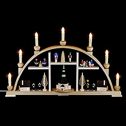 Candle Arch  -  Motives from Seiffen  -  63 x 37cm / 25 x 15 inch