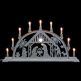 Candle Arch  -  Nativity Scene  -  78cm x 42cm / 31 x 17 inches
